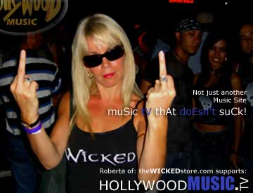 Roberta Supports Hollywood Music TV